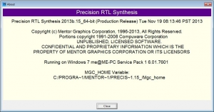Mentor Graphics Precision RTL 2013b [En]