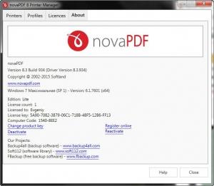 novaPDF Lite Desktop 8.3 Build 934 [Multi/Ru]