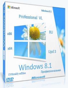 Microsoft® Windows® 8.1 Professional VL with Update 3 x86-x64 Ru by OVGorskiy® 07.2017 2DVD