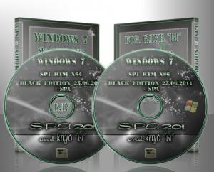 Windows 7 SP1 BLACK EDITION Russian 16 versions on 2DVD ©SPA 2011(23.06.11) [Ru]