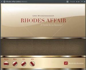 Audiolounge Urs Wiesendanger - Rhodes Affair 2.4.2.0 VSTi x86 x64 [12.07.2018] [En]