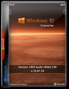 Windows 10 Enterprise 1903 18362.418 x64 Rus by OneSmiLe (15.10.2019)