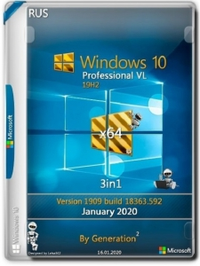 Windows 10 Pro VL x64 v.1909.18363.719 2in1 March 2020 by Generation2 [Ru]