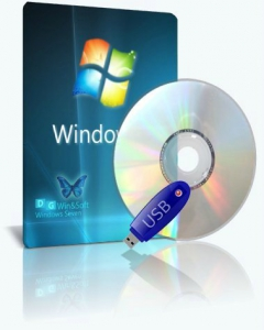 Microsoft Windows 7 SP1-u with IE11 (2 x 3in1) - DG Win&Soft 2020.01 (en-US, ru-RU, uk-UA) [2 образа: x64 и x86]