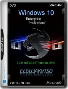 Windows 10 2in1 VL (x64) (v.1909 Build 18363.657) Elgujakviso Edition (v.07.03.20) [Ru]