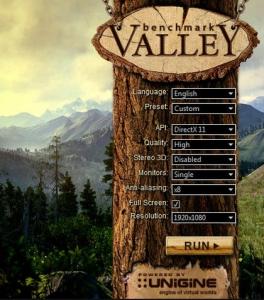 Unigine Valley Benchmark 1.0 Basic Edition [Multi/Ru]